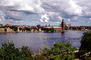 Harbor, boats, buildings, skyline, Kungsholmen, Baltic Sea, Town Hall, tower, Stadshuset, CEWV01P08_01