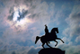 Statue to Peter the Great, Clouds, Sun, CGKV01P06_15.1801