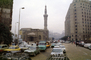 Minaret, Buildings, Traffic Jam, Cars, automobile, vehicles, Crowded Street, Cairo