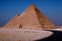 The Great Pyramid of Cheops, Road, Giza, camel