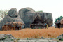 Thatched Roof Houses, Homes, Grass Roof, buildings, roundhouse, desert, boulders, building, Sod, CKZV01P03_04