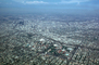 Urban Sprawl, Colosseum football stadium, USC Campus, freeways, smog, buildings, homes, houses
