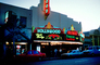 Hollywood Movie Theater building, neon sign, art deco, marquee, CLAV02P05_01