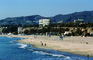 beach, sand, Pacific Ocean, PCH, hills, mountains buildings, Santa Monica Bay, CLAV02P07_07
