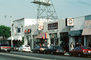 Melrose Avenue, buildings, cars, Double Rainbow, shops, stores
