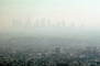 Los Angeles City skyline in the smog, CLAV03P07_10