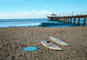 Surfboards, Beach, pier, Manhattan Beach, CLAV04P10_19