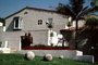 Big Round Cement Balls on a lawn, Home, House, Los Feliz, CLAV05P03_18