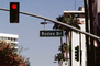 Rodeo Drive, street signal, light, Street Sign, Signage, CLAV05P08_18