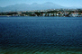 Homes, Lakeshore, Lake, water, mountains, buildings, Mission Viejo
