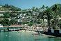 Homes, Houses, bluffs, buildings, docks, pier, Avalon, Harbor, CLAV06P14_17
