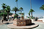 Water Fountain, aquatics, tile, palm trees, Avalon, landmark, CLAV07P02_06