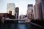Chicago River, looking-up, Skyline, Skyscrapers, Buildings, cityscape, CLCV01P08_15