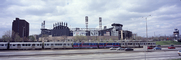 Chicago-El, Elevated, White Sox Stadium, U.S. Cellular Field, Panorama, CTA, cars, automobiles, vehicles, expressway, CLCV04P03_05