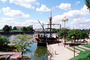 Scioto River, Replica of Christopher Columbus's ship, The Santa Maria, Downtown Riverfront, CLOV01P09_02