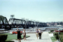 1913 Government Bridge, Davenport Iowa, Rock Island, Mississippi River, cars, December 1963, 1960's, CMIV01P01_13