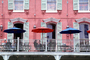 Balcony, Guardrail, Building, Parasol, the French Quarter, CMLV02P08_09