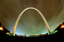 The Gateway Arch, Night, Nighttime, Exterior, Outdoors, Outside