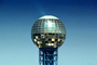 Sunsphere, Gold Globe, Knoxville World's Fair, 1982, Tennessee, The 1982 World's Fair, 1980's, CMTV02P07_07