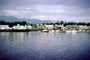 Harbor, hill, boats, piers, Ketchikan Waterfront, skyline, city, town, mountains