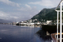 Harbor, boats, piers, Ketchikan Waterfront, skyline, city, town, mountains