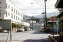 cars, street, STOP sign, Ketchikan, automobile, vehicles, automobiles, 1960's