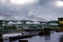 Skagway Docks and Piers, harbor, mountains