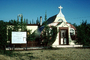 Our Lady of Grace Catholic Church, Mission Beaver Creek Church, Yukon, Orthodox Church, building, curved roof, cross, quonset hut, 1950's