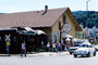 Calistoga Depot, Napa Valley, buildings, cars, shops, stores, downtown, Train Station, CNCV02P03_19