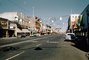 Downtown Salinas during Christmas, decorations, main street, 1950's