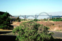 Yaquina Bay Bridge, Newport, US Highway 101, Lincoln County, Oregon, Steel through arch bridge, Landmark, CNOV01P01_06