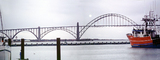 Yaquina Bay Bridge, Newport, US Highway 101, Lincoln County, Oregon, Steel through arch bridge, Landmark, Panorama, CNOV02P06_12B