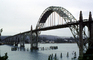 Yaquina Bay Bridge, Newport, US Highway 101, Lincoln County, Oregon, Steel through arch bridge, Landmark, CNOV02P06_18