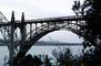 Yaquina Bay Bridge, Newport, US Highway 101, Lincoln County, Oregon, Steel through arch bridge, Landmark, CNOV02P06_19