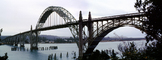Yaquina Bay Bridge, Newport, US Highway 101, Lincoln County, Oregon, Steel through arch bridge, Landmark, CNOV02P06_19B
