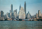Downtown, docks, piers, waterfront, Manhattan, 1954, 1950's, CNYV01P01_05