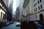 Wall Street, taxi cab, NYSE, buildings