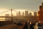 Manhattan-Bridge, East-River, Sunset, Sunclipse
