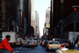 Taxi Cabs, cars, Midtown, buildings, canyons of Manhattan, automobile, vehicles, CNYV03P05_11