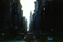cars, street, Buildings, Canyons of Manhattan