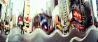 Times Square, Panorama, Buildings, cityscape, cars, winter, wintertime, CNYV05P08_03