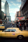 Taxi Cab, 42nd Street, Theatres, Midtown Manhattan, October 1974, 1970's, CNYV05P14_19