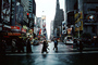 Times Square, Crosswalk, street, cars, buildings, taxi cab, autumn, skyscrapers, Manhattan, CNYV06P08_06