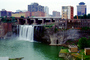 High Falls, Genesee River, Downtown Rochester, Waterfall, CNZV01P03_02