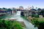 High Falls of the Genesee River, Downtown Rochester, Waterfall, CNZV01P03_03