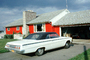 1962 Chevy Impala, Chevrolet, Car, Driveway, Garage, Chimney, 1960's, CNZV02P02_15