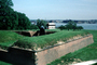 Rodman gun, gun emplacement, Civil War Cannons, fort, harbor, Artillery, shore, shoreline, coastal, Fort