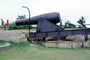Rodman gun, gun emplacement, cannon, Fort Knox State Park, Historic Site, Granite Fort, CODV01P04_18