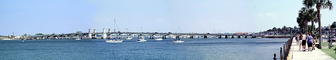 Panorama, Bridge of Lions, double-leaf steel bascule bridge, Matanzas Bay, COFV04P08_07B