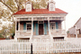 King-Tisdell Cottage, Museum of Black History, House, Home, Building, Ornate, Porch, White Picket Fence, Savannah, COGV01P10_16